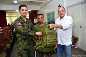 CAAs get military gears from Sulong Kapayapaan