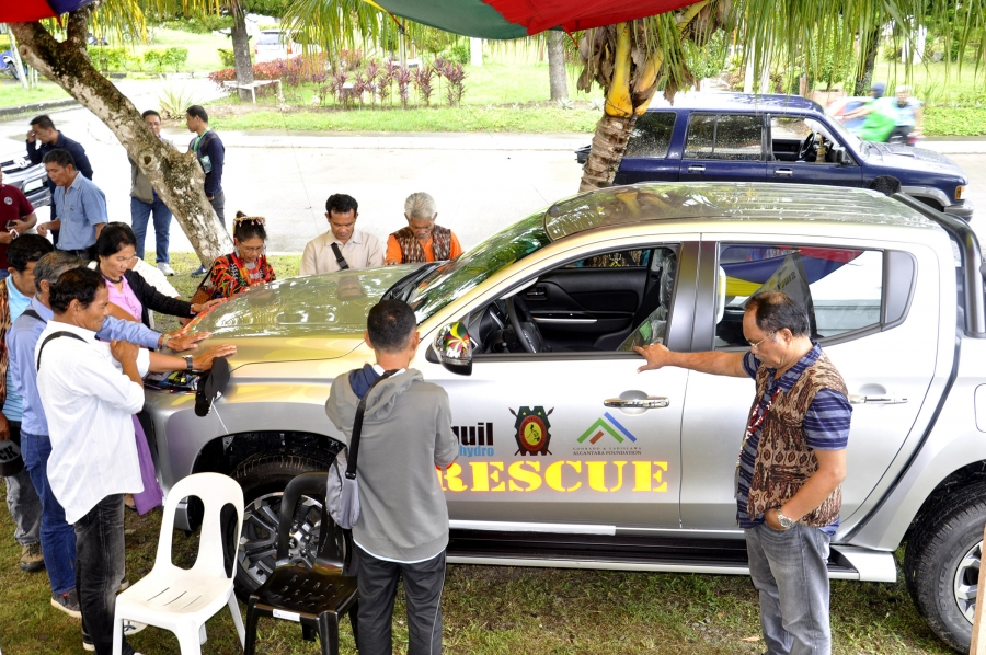 Siguil Hydro Power Plant donates rescue vehicle