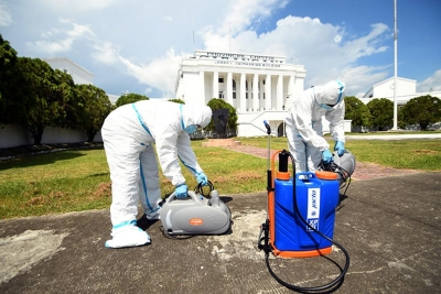 Capitol leads disinfection drive