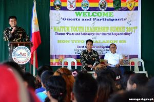 Army officers, Mayor Balazon host YLS
