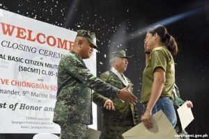 Sulong Sarangani director joins military training