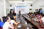 DICT holding Rural Impact Sourcing Technical Training