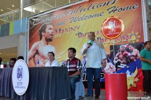 Governor Solon leads constituents in welcoming Peoples' Champ