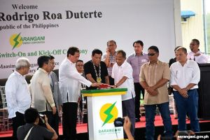 Duterte leads power plant switch-on