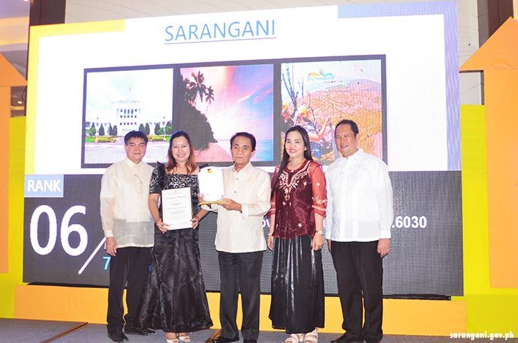 6th most competitive province in PH is Sarangani