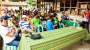 Abaca farmers in meeting
