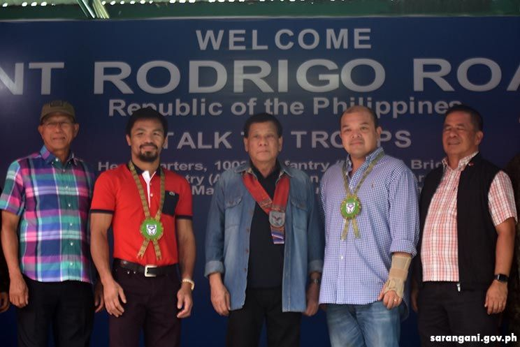 President Duterte with Sen. Pacquiao, Gov. Solon