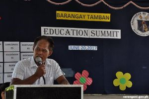 Barangay Chairman lauds teachers