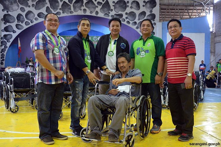 Free wheelchairs for Maitum residents