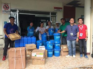 Flashflood victims receive aid