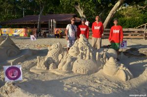 Glan team takes sand sculpture prize