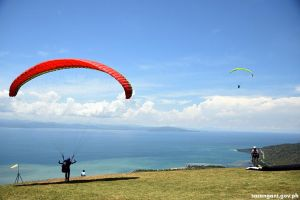 Paragliders in Sarangani Bay