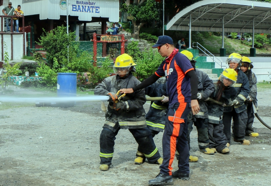 Junior firefighters in action
