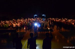 Candle-lighting for peace