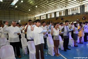 Maitum officials take oath