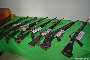 Firearms surrendered