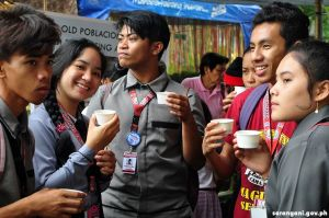 Students take Cacao Coffee break