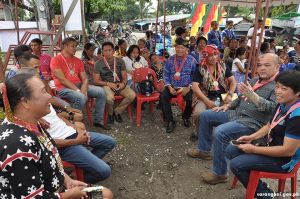 Gov. Solon meets tribal leaders, village officials