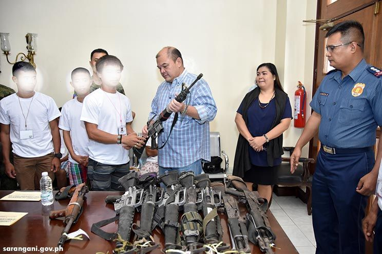 15 armed NPA rebels surrender in Sarangani