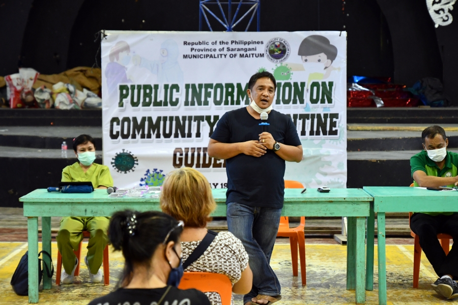 Maitum Mayor Bryan holds GCQ orientation