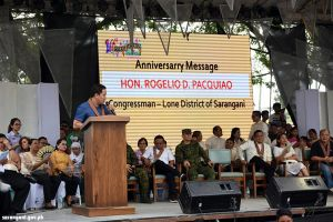 Rep. Pacquaio graces Alabel anniversary