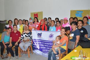 Women trained by DTI